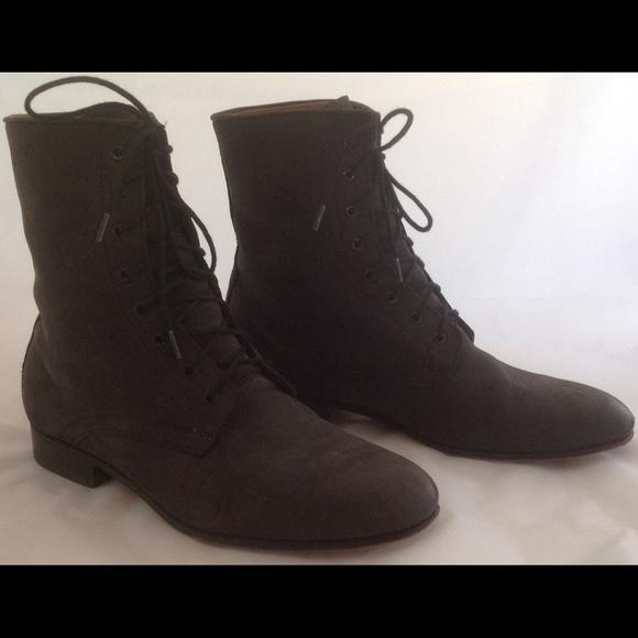 f5ee093391f DIEPPA RESTREPO Rusty black suede Ankle boot sz. 8.  M 5a8b458636b9de447425af73